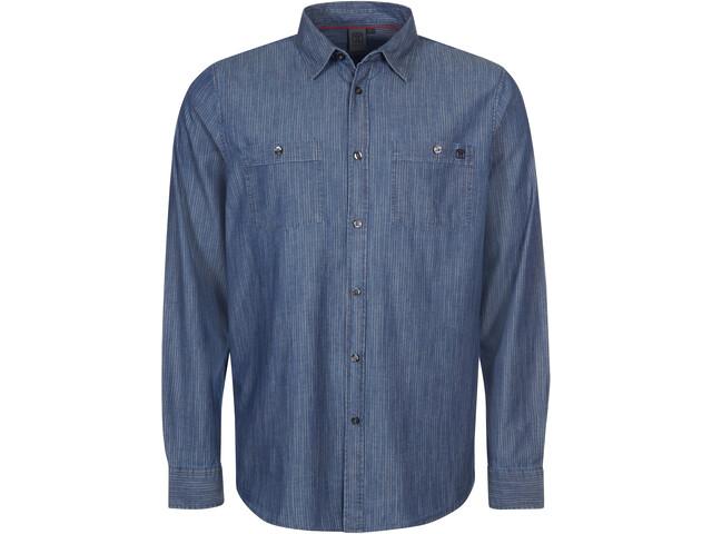 Elkline Cityguide Camiseta Manga Larga Hombre, darkblue